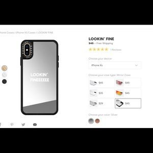 Casetify iPhone XS case with mirror